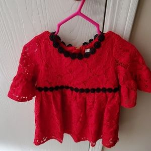 Kate Spade Red Lace 24M/2T Dress